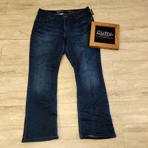 Lee Modern Series Size 16 Short Bootcut Jeans